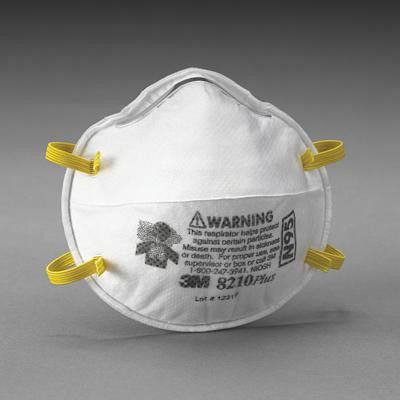 3M 8210Plus N95 Particulate Disposable Respirator - NIOSH 42CFR84 (20 Each Per Box)