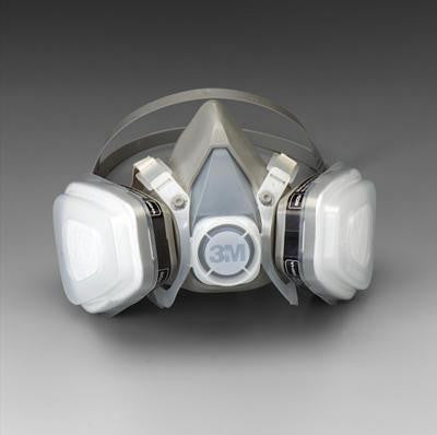 3M Medium Thermoplastic Elastomer Series 5000 Half Mask Organic Vapor/P95 Disposable Dual Cartridge Air Purifying Respirator