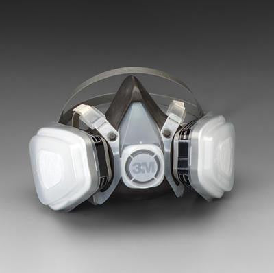 3M Large Thermoplastic Elastomer Series 5000 Half Mask Organic Vapor/P95 Disposable Dual Cartridge Air Purifying Respirator