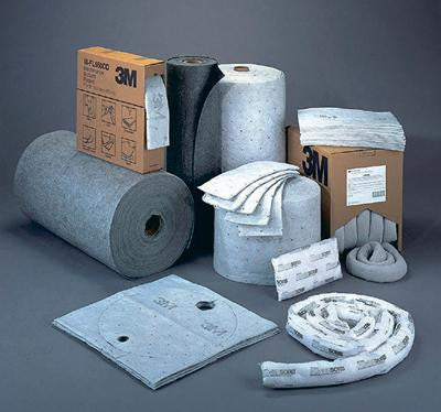 "3M 38"" X 150' Roll Gray High Capacity Maintenance Sorbent Roll"