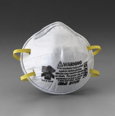 3M 8110S N95 Particulate Disposable Respirator - AS/NZS 1716 (20 Each Per Box)