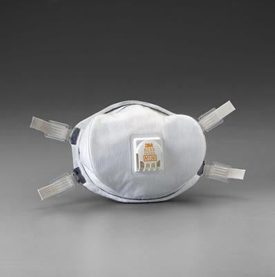 3M 8233 N100 Disposable Respirator With Cool Flow Exhalation Valve And Face Seal - NIOSH 42CFR84