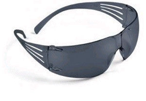 3MSecureFit Self-Adjusting Safety Glasses With 3M Pressure Diffusion Gray Frame And Gray Polycarbonate Anti-Fog Lens