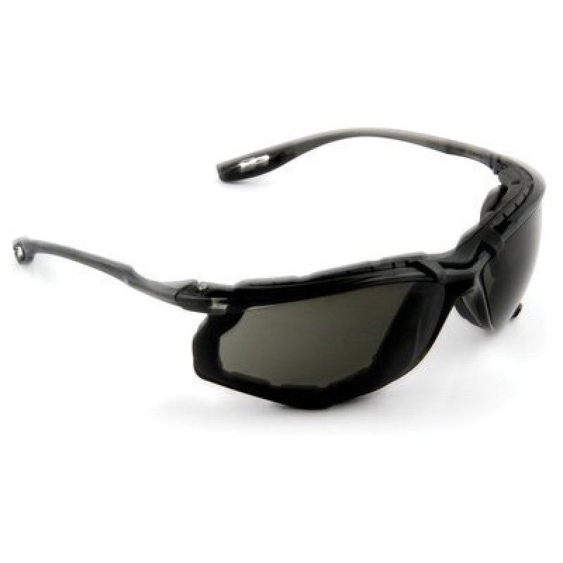 3M Virtua CCS Safety Glasses With Black Frame, Gray Polycarbonate Anti-Fog Lens, Cord Control System And Foam Gasket Attachment