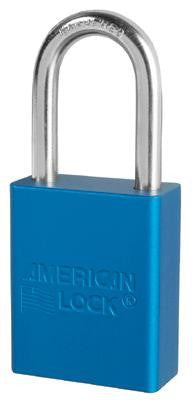 "American Lock Blue Padlock With 1 1/2"" Solid Aluminum Body 1 1/2"" Shackle (Keyed Differently)"