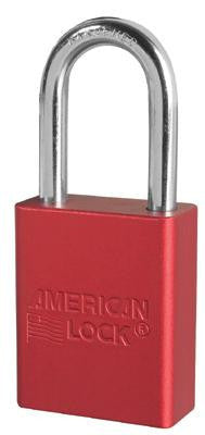 "American Lock Red Padlock With 1 1/2"" Solid Aluminum Body 1 1/2"" Shackle (Keyed Differently)"