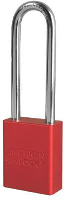 "American Lock Red Padlock With 1 1/2"" Solid Aluminum Body 3"" Shackle (Keyed Differently)"