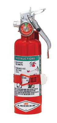 Amerex 1.4 Pound Halotron I Fire Extinguisher With Aluminum Valve Vehicle Bracket