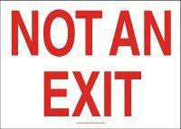 "Accuform Signs 7"" X 10"" Red And White .040 Aluminum Admittance And Exit Sign ""Not An Exit"""