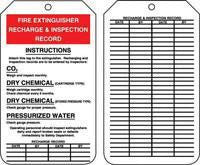 "Accuform Signs 5 7/8"" X 3 1/8"" PF Cardstock Fire Extinguisher Tag ""Fire Extinguisher Recharge & Inspection Record'£"" (25 Per Package)"