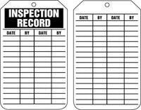 "Accuform Signs 5 7/8"" X 3 1/8"" HS Laminate Record Tag ""Inspection Record"" (25 Per Package)"