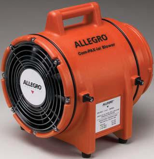 "Allegro Industries 8"" Plastic COM-PAX-IAL Blower Without Canister"