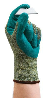Ansell Size 8 HyFlex Medium Duty Cut Resistant Blue Foam Nitrile Palm Coated Work Glove With Intercept Technology DuPont Kevlar Liner And Knit Wrist