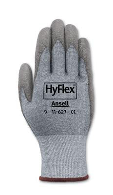 Ansell Size 10 HyFlex Light Duty Cut Resistant Gray Polyurethane Palm Coated Work Glove With Gray DSM Dyneema And Lycra Liner And Knit Wrist