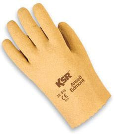 Ansell Size 8 KSR Light Duty Multi-Purpose Tan Vinyl Coated Work Glove With Interlock Knit Liner And Slip-On Cuff