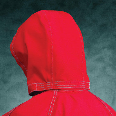 Ansell One Size Sawyer-Tower CPC Red Polyester Trilaminate 3-Piece Chemical Resistant Hood With Gore Fabric