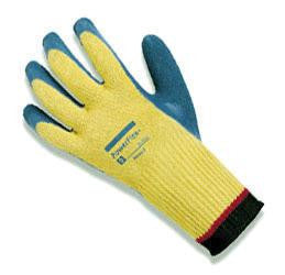 Ansell Size 8 PowerFlex Plus Heavy Duty Cut Resistant Blue Natural Rubber Latex Palm Coated Work Glove With DuPont Kevlar Liner And Knit Wrist