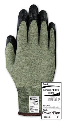 Ansell Size 8 PowerFlex Medium Duty Special Purpose Foam Palm Coated Work Glove With DuPont Kevlar Liner And Knit Wrist