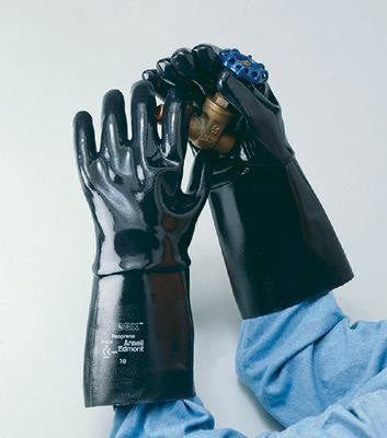 "Ansell Size 10 Neox Fully Coated Neoprene Glove With 14"" Gauntlet Cuff"
