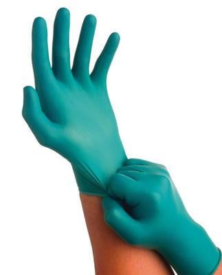 Ansell Touch N Tuff - 9 1/2 in - Nitrile - Lightly Powdered Disposable Glove - Size 7 1/2