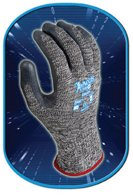SHOWA Best Glove Size 9 Aegis HP54 10 Gauge Cut Resistant Gray Zorb-IT Sponge Nitrile Palm Coated Work Gloves With High Performance Seamless HPPE, Nylon And Lycra Liner And Elastic Knit Wrist