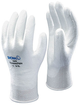 SHOWA Best Glove Size 8 SHOWA  540 13 Gauge Cut Resistant White Polyurethane Palm Coated Work Gloves With White High Performance Polyethylene Engineered (HPPE) Polyethylene Liner And Elastic Knit Wrist