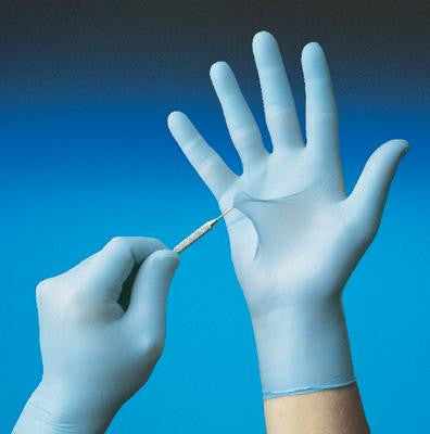 "SHOWA Best Glove Large Blue 9.5"" N-DEX Medical Exam 4 mil Medical Grade Nitrile Ambidextrous Powder-Free Disposable Gloves With Smooth Finish And Rolled Cuffs"