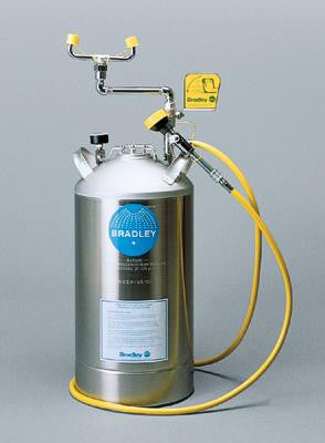 Bradley 10 Gallon Portable Pressurized  Eye Wash Unit With Drench Hose