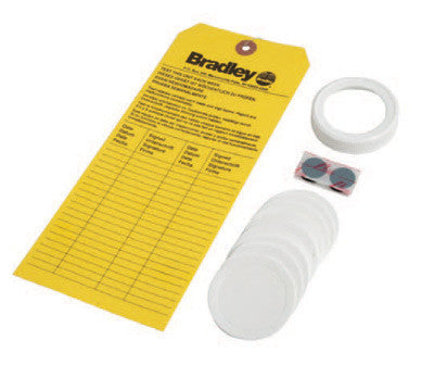 Bradley Refill Kit With Replacement Cap, Foam Liners And Inspection Tag For On-Site Emergency Eyewash Station