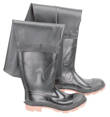 Onguard Industries Size 10 Storm King Black PVC And Polyester Hip Waders With Cleated Outsole And Steel Toe