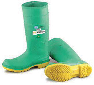 "Onguard Industries Size 9 Hazmax Green 16"" PVC Kneeboot With Steel Midsole, Ultragrip Sipe Outsole And Steel Toe"