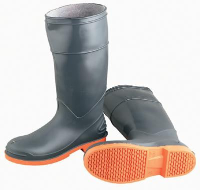 Onguard Industries Size 10 SureFlex Gray And Orange PVC Kneeboots With Safety-Loc Outsole And Steel Toe