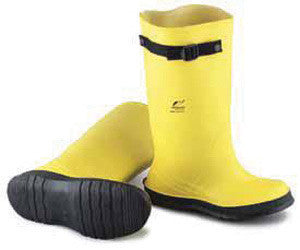 "Onguard Industries Size 10 Slicker Yellow 17"" PVC And FLEX-O-THANE Overboot With Self-Cleaning Cleated Outsole"
