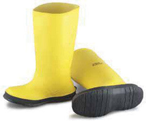"Onguard Industries Size 15 Slicker Yellow 17"" PVC Overboot With Self-Cleaning Cleated Outsole"