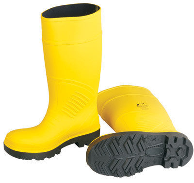 "Onguard Industries Size 11 Yellow 15"" Polyurethane Boots With Abrasion Resistant Outsole And Steel Toe"
