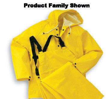 Onguard Industries Large Yellow Webtex .65 mm Polyester And PVC Rain Jacket With Front Snap Closure And Hood Snaps