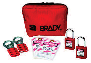 Brady Personal Padlock Pouch With 2 Keyed-Alike Safety Padlocks