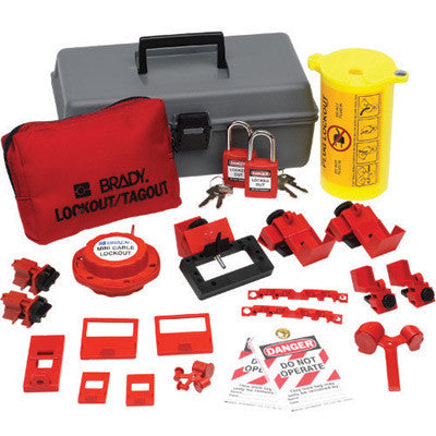 Brady Electrical Lockout Toobox Kit With Brady Safety Padlocks And Tags