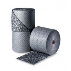 "Brady SPC 30"" X 150"" BattleMat 3-Ply Gray Camouflage Double-Perforated Universal Sorbent Roll"