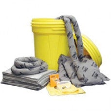 Brady 65 Gallon Oil Only Lab Pack Absorbent Spill Kit (Contains Pads, Socs, Pillows, Gloves, Bags, Goggles And Handbook)