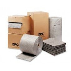 "Brady SPC 15"" X 150' MRO Plus 3-Ply, Gray Dimpled, Heavy Weight Sorbent Roll, Perforated Every 18"" For Use With Oil And Water-Based Fluids (1 Per Box)"