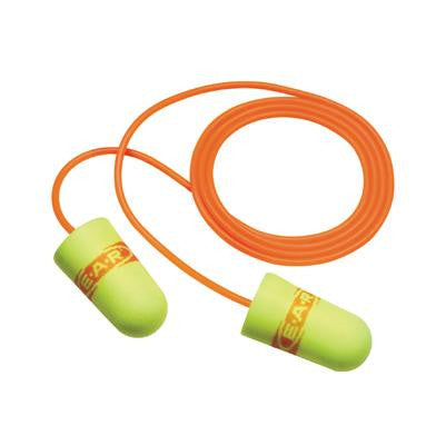 3M Single Use E-A-RSoft Superfit Tapered Foam Corded Earplugs With Metal Detectable Cord (2000 Pair Per Case)