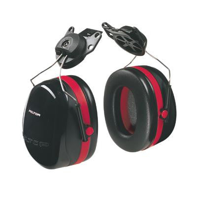 3M Peltor Red And Black Model X3P3E/37277 Cap Mount Hearing Conservation Earmuffs