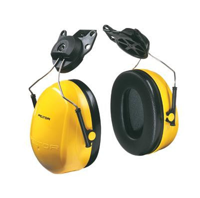 3M Peltor Black And Yellow Model X2P3E/37276 Cap Mount Hearing Conservation Earmuffs