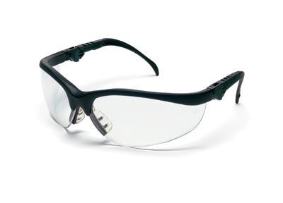 Crews Klondike Plus Safety Glasses With Black Frame And Clear Polycarbonate Duramass AF4 Anti-Scratch Anti-Fog Lens