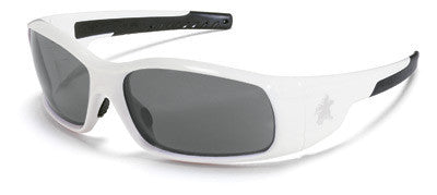 Crews Swagger Safety Glasses With Polished White Polycarbonate Frame And Clear Polycarbonate Duramass AF4 Anti-Fog Scratch-Resistant Lens (12 Per Box)