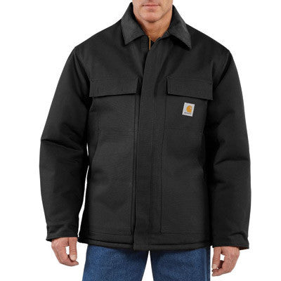 Carhartt Medium Tall Black Arctic Quilt-Lined 12 Ounce Cotton Duck Traditional Coat
