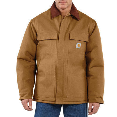 Carhartt Large Regular Brown Arctic Quilt-Lined 12 Ounce Cotton Duck Traditional Coat
