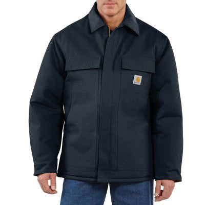 Carhartt Large Tall Dark Navy Arctic Quilt-Lined 12 Ounce Cotton Duck Traditional Coat