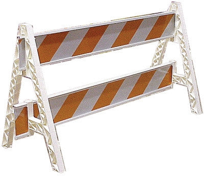Cortina Safety Products Group White Plastic Traffic Barricade A-Frame With Slots For Weight Cartridge